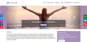 Site para divulgar instagram de psicologia